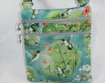 Hummingbird Crossbody Handbag w/adj strap--- Free Shipping
