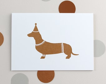 Papercut Party Sausage Dog Card