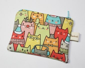 Coin purse, change purse, cat purse, gift for cat lover, Christmas cats