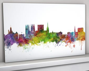 York Skyline Canvas, York Cityscape Box Canvas Art Print (1013)