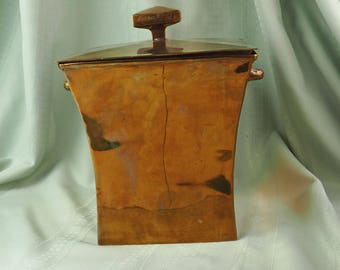 Solid Brass Box with Lid- Vintage- Decorativ Crafts Inc.- Hand-Crafted Imports- Made in India- Number 3546- Heavy and Large- Antique