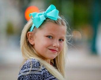 Aqua Bow Headband