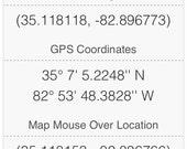 Custom coordinate board using gps coordinates pictured
