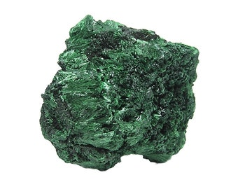 Malachite Green Fibrous Crystal Sprays Copper Mineral Specimen African Crystalline Geo Sample
