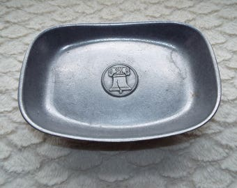 Wilton Columbia PA USA Liberty Bell Vintage Pewter Tray Bin 06 (30.00+ coupon TOYOU4FREE  For free shipping!)