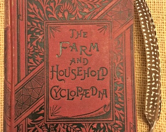 "Very Rare Antique 1885 book ""The Farm and Household Cyclopaedia"""