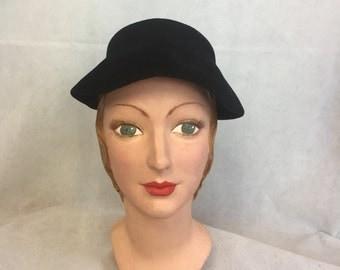 Early 1950s black felt hat