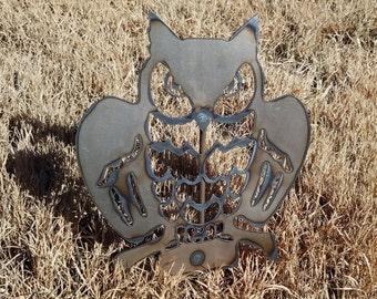 OWL Metal Garden Stake
