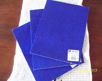 Kunin Stick's Felt, Self Adhesive, 9x12 sheets, Royal Blue