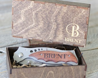 Custom Groomsmen Knife Groomsmen Gift Folding Knife Personalized Knife Box Pocket Knives Best Man Knife - ANY QTY