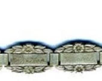15% DISCOUNT Bracelet  WWII Forget Me Not Links Bracelet   STERLING  Item No: 14960