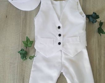 Baby Boy Baptism Outfit, Boy Christening Outfit, Boy Blessing Outfit, Boy White Suit, Boys White Suit, Boy Ring Bearer, Ring Bearer Outfit