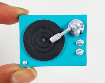 Turntable pin, turntable magnet, turntable pin, turntable magnet, nostalgic gift, turntable brooch, turntable brooch