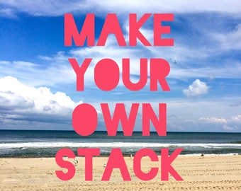 Make your own stack! Custom bracelet stack, boho beach bracelets, arm candy stack, tassels and charm beaded bracelets