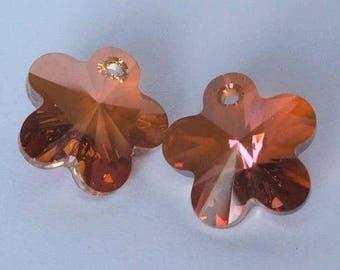 SWAROVSKI 6744 Flower crystal pendant COPPER