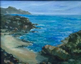 Windward shore, Oahu, Hawaii, 16 x 20, original oil on canvas