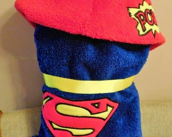 Girl Superhero Hooded Towel - Free Personalization
