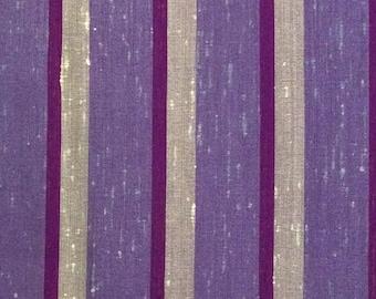Purple Stripe Silk Fabric / Silk Fabric / Vintage Silk Fabric / Purple Striped Silk Fabric / Striped Silk Fabric