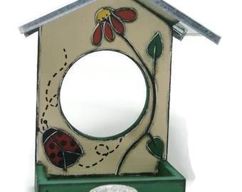 Seed dispenser for garden bird - Seed holder for garden birds