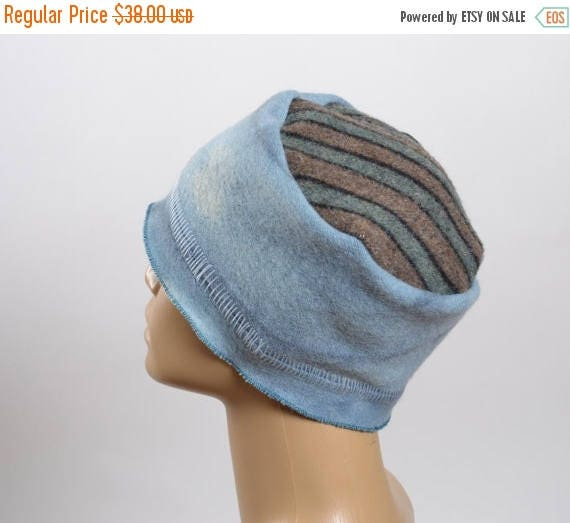 SUMMER SALE Women's Hats - Hand Dyed Repurposed Hat - WInter Hats -  Blanket Hat - Women's Winter Hats - Warm Hats