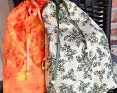 Medium Drawstring Bag, Christmas Gift Wrap Bag, Lightweight Drawstring Bag, Unlined Small Project Bag