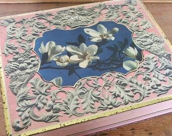 Pretty Vintage 'Magnolia' Floral Tin