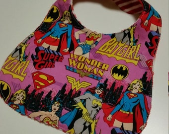 Wonder Woman Baby Bib