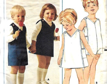 Butterick 4732 Girls And Boys Jumper And Jumpsuit Pattern, Size 1