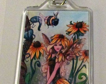 Susan fairy faerie faery fine art KEYCHAIN by Ronne P Barton