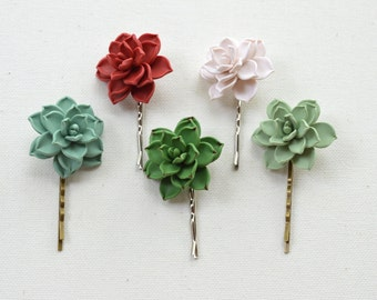 1 pcs Succulent Hair. Succulent Hair Clip. Succulent Hair Accessories.