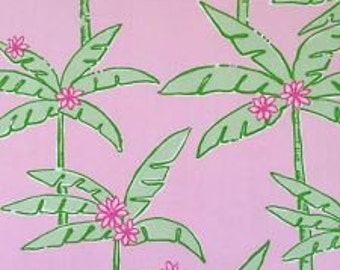 Lilly Pulitzer signature fabric Lazy Palms 18 X 18 inches