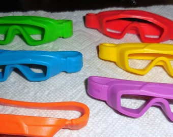 Multicolor Goggles For Your  Steampunk Aviator Assemblage Or Your Reimagining  Free Shipping