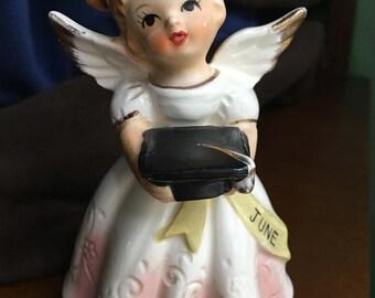 Vintage Angel June Graduation With Mortarboard