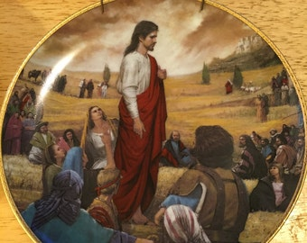 Collectible Jesus Plate - The Sermon on the Mount