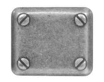 2 Mech 13/16 inch ( 18 mm ) Metal Buttons Antique Silver Color