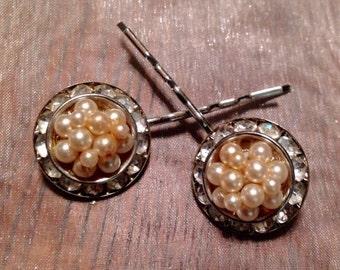 HOLIDAY SAVINGS Bridal Hair Pins Jewelry Pearls Paste Hair Pins Bobby Pins