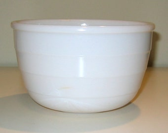 Vintage GE / General Electric Milk Glass Mixing Bowl