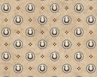Hold Em or Fold Em - Horse Shoe Fabric - Cotton Fabric - Maywood Studio - WEST-01