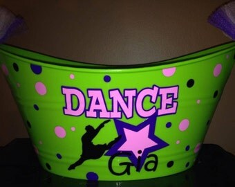 Personalized Dance Inspired Bucket/Basket