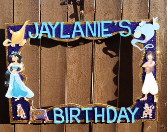 Jasmine Aladdin or any Theme Party Photo Prop Frame