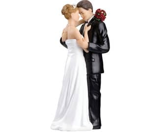 Wedding Cake Top, Bride and Groom Cake Topper, Romantic Wedding Cake Top