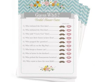 Bridal Shower Game, Newlyweds Game Cards, Party Game