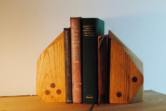 Modern Oak Reclaimed Bookends