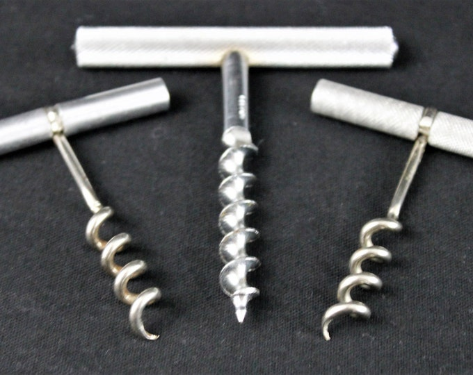 Vintage Trio of Mid-Sized Steel Corkscrews