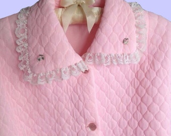 Vintage Adult Babydoll sweater baby pink cotton sweater