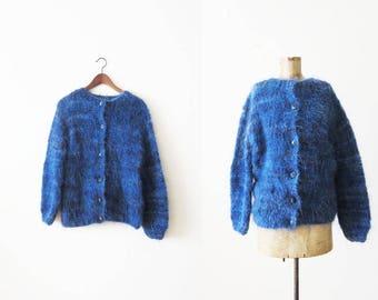 Mohair Cardigan / Mohair Sweater / Fuzzy Cardigan / Grunge Cardigan / Knit Cardigan Sweater / 90s Cardigan