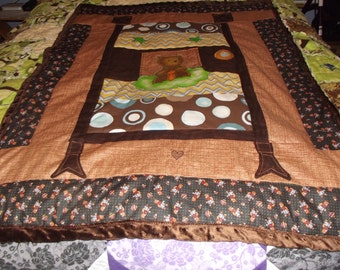 teddy bear crib quilt