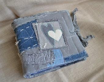 Two Hearts Junk Journal, Art Journal, Notebook