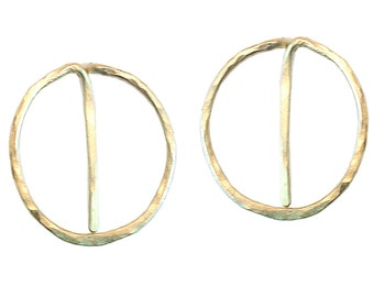 Hoop Post Earrings, 14k gold filled, sterling silver, 14k rose gold filled
