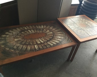 REDUCED Danish Tile Topped Coffee and End Table